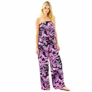 Lilly Pulitzer Pim Jumpsuit Onyx Wild Within